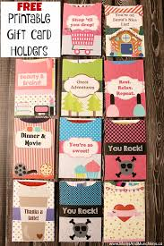 printable gift card free printable gift card holders munchkins