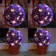 Garden Sphere Balls Solar Power 28cm Topiary Sphere Ball 20 Leds Lights Garden Hanging