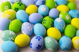 pastel easter eggs pastel colored easter eggs background design bundles