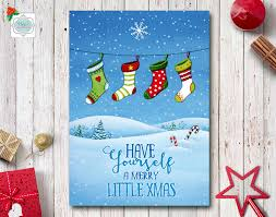 printable greeting cards merry card watercolor