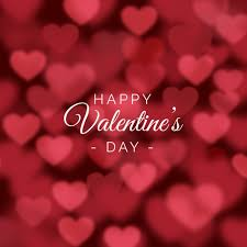 valentines day for valentines day background with blurred hearts vector free
