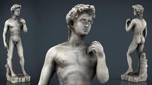 david statue by michelangelo 3d asset cgtrader