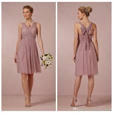 light pink knee length dress deep jade short bridesmaid dress soft tulle v neck knee length back