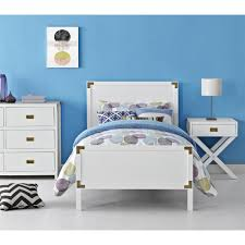 White Twin Bed Dhp Bombay White Twin Bed Frame 3246098 The Home Depot