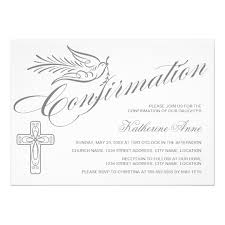 confirmation invites calligraphy cross and dove confirmation card zazzle
