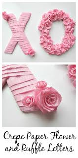 crepe paper flower and ruffle letters crepe paper crepes and