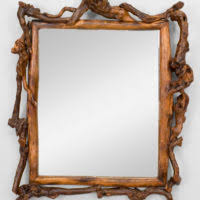 Rustic Bathroom Mirrors - bathroom reclaimed wood mirror frame rustic bathroom design idea