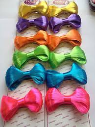 hair bows wholesale fluorescent hair bows wholesale 2 sizes choose ebay