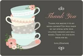 bridal shower thank you cards teacup bridal thank you bridal shower thank you cards