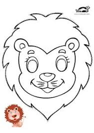 lion mask for kids printable lion mask safari project animals in the unit