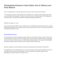 thanksgiving outerwear sales now at tbdress press release