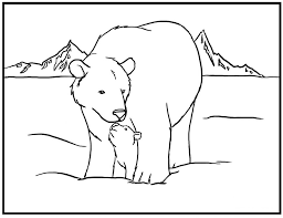 coloring pages magnificent polar bear coloring pages polar