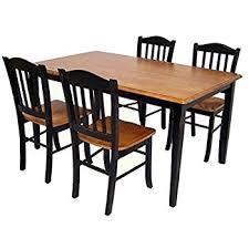 Shaker Dining Room Set Boraam 80536 Shaker 5 Dining Room Set Black