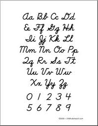 cursive letters alphabet chart poster and handwriting chart