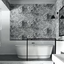 wallpaper for bathroom ideas bathroom wallpaper beside the seaside wallpaper black and white
