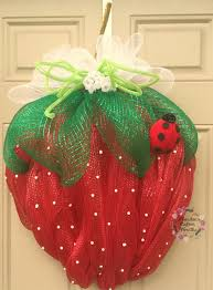 big strawberry deco mesh wreath s by houstoncustomwreaths