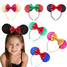 flower bands mouse ears hair bands hoop flower hairband headbands