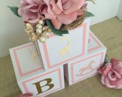 centerpiece for baby shower baby shower centerpiece alphabet block centerpiece baby