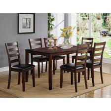 7 pc dining room set brown 7 dining set traditional tahoe mango rc