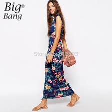 aliexpress buy floral print 2015 summer maxi dresses plus