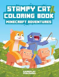 stampy cat coloring book minecraft adventures gameplay