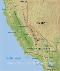 Where Is Mexico On The Map by Physical Map Of California