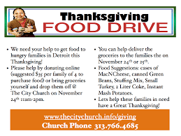 thanksgiving food drive slogans