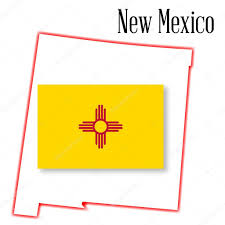 New Mexico State Map by New Mexico State Map And Flag U2014 Stock Vector Bigalbaloo 59213785