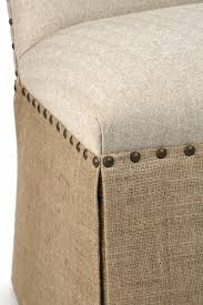 Linen Dining Chair Skirted Dining Chair Natural Linen And Burlap Zentique