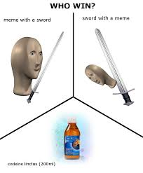 sword with a meme meme man know your meme