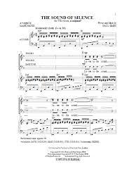 the sound of silence choir sheet by simon garfunkel ttbb