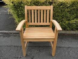 B Q Rattan Garden Furniture B U0026q Wood Chair Armrest Garden Patio Outdoor Indoor Armchair