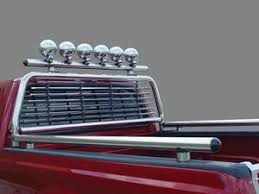 headache rack with light bar stainless steel headache racks