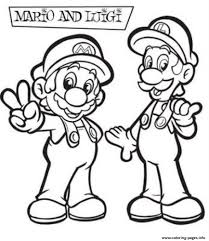awesome luigi and mario bros sdd58 coloring pages printable