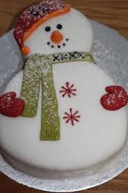snowman cake this reminds me of something my aunt would have