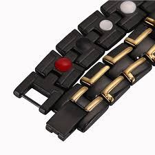 magnetic bracelet with germanium images Healing magnetic bracelet 316l stainless steel 4 in 1 elements jpg