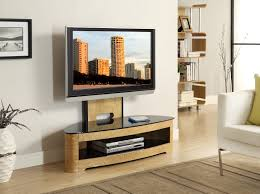 Tv Stands For Flat Screen Tvs Jual Furnishings Jf209 Curved Oak Cantilever Tv Stand Upto 50