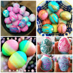 Decorating Easter Eggs With Cool Whip by Cool Whip Dyed Easter Eggs Crafty Morning