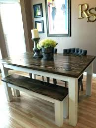 kitchen tables with benches great dining room table bench best