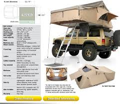 Jeep Wrangler Waterproof Interior Overlander Tent And Awning Smittybilt