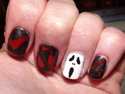 nail art further horror movie nail art also neon horror art on