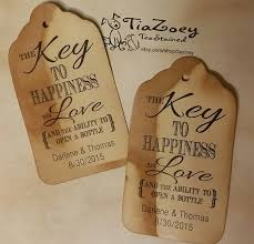 bottle opener favor key to happiness is bottle opener favor tag large tags