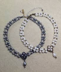 crazy for pearls bridal choker pearl necklace set seed bead