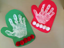 holiday handprint u0026 footprint crafts footprint crafts mittens