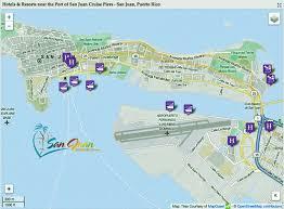 map port san juan hotels near cruise terminal port map