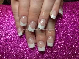 social build acrylic nails with white tips nail technician