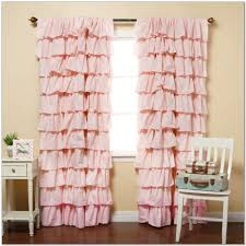 Nursery Curtains Pink by 100 Gypsy Ruffled Curtains Pink Tuxedo Ruffle Curtain