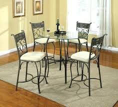 wrought iron dining table glass top beautiful wrought iron kitchen table sets boldventure info
