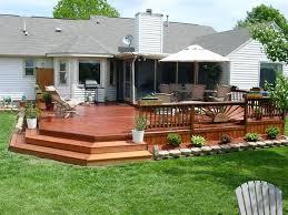 Backyard Deck Ideas Two Level Backyard Deck Ideas Large Wooden Deck Ideas Backyard