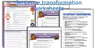 english teaching worksheets sentence transformation